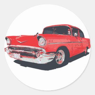 Chevy Bel Air vector illustration Classic Round Sticker