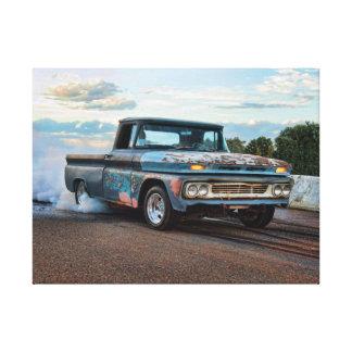Chevy C10 pickup burnout Canvas Print