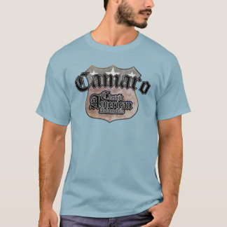 Chevy Camaro Classic - Faded Hues Rte 66 Sign T-Shirt