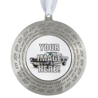 Chevy Camaro Photo - Add your car! Round Pewter Ornament
