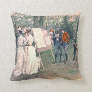 Chevy Chase Golf Tournament 1902 Throw Pillow