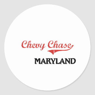 Chevy Chase Maryland City Classic Classic Round Sticker