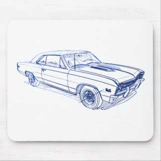 Chevy Chevelle 1967 Mousepads