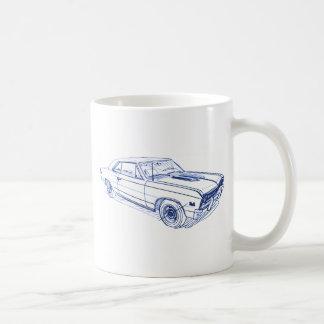Chevy Chevelle 1967 Taza Básica Blanca
