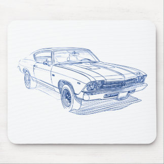 Chevy Chevelle 1969 SS Mousepads