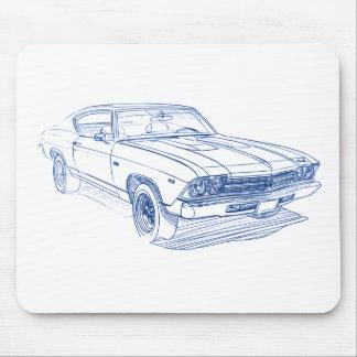 Chevy Chevelle 1969 SS Tapetes De Ratones
