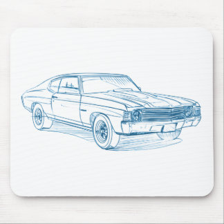 Chevy Chevelle 1972 Mouse Pad