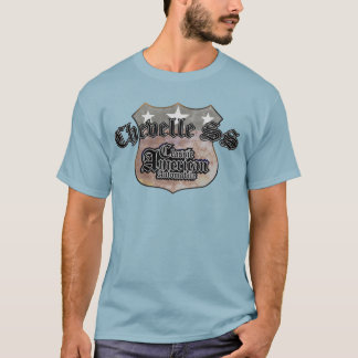 Chevy Chevelle SS Classic - Faded Hues Rte 66 Sign T-Shirt