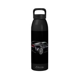Chevy Chevrolet Corvette ZR1 Sports Car Reusable Water Bottle