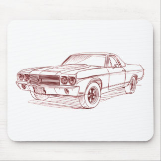 Chevy El Camino SS 1970 Mouse Pad