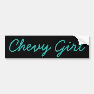 Chevy Girl Bumper Sticker
