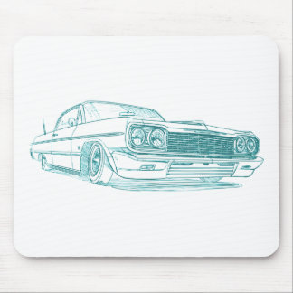 Chevy Impala 1964 lowrider Mousepads