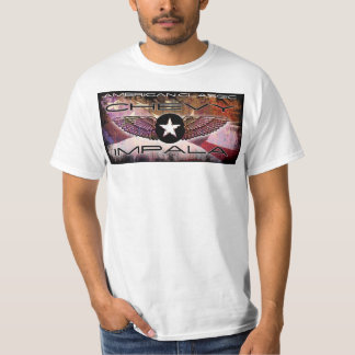 Chevy Impala Cool Classic Faded Flag Design T-Shirt
