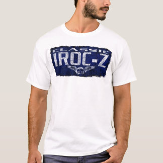Chevy IROC Z Camaro Blue Classic Winged Skull Erod T-Shirt