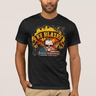 Chevy K5 Blazer - Burnout Banner Skull -n- Flag T-Shirt