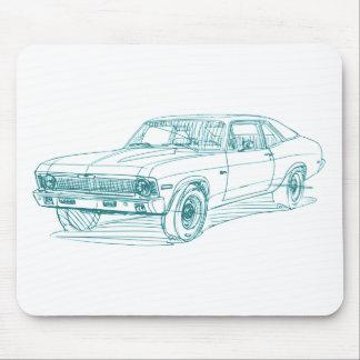 Chevy Nova 1972 Alfombrilla De Ratones