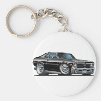 Chevy Nova Black Car Keychain