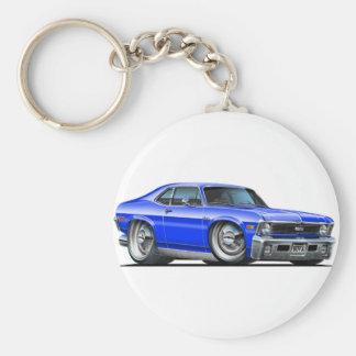 Chevy Nova Blue Car Key Chain