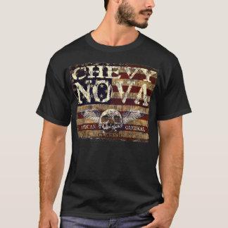 Chevy Nova Design Against Eroded Flag T-Shirt