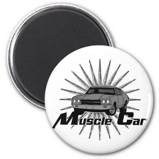 Chevy Nova Muscle Car 2 Inch Round Magnet