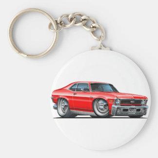 Chevy Nova Red Car Keychain