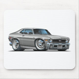 Chevy Nova Silver Car Mouse Pad