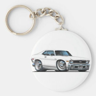 Chevy Nova White Car Keychain