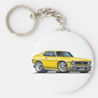 Chevy Nova Yellow Car Keychain