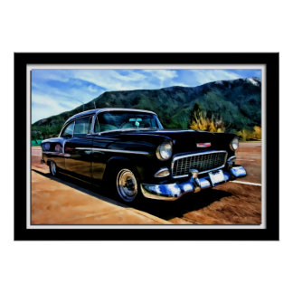 Chevy Painterly 1955 Belair Póster