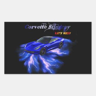 Chevy: Pastinaca 2013 del Corvette Pegatina Rectangular