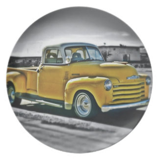 Chevy pick UP Party Plate