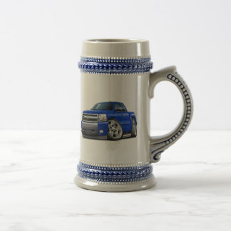 Chevy Silverado Blue Extended Cab Beer Stein