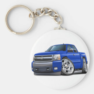 Chevy Silverado Blue Extended Cab Keychains