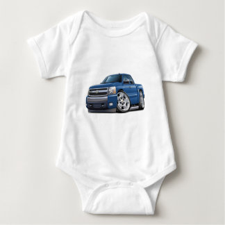 Chevy Silverado Blue Granite Extended Cab Baby Bodysuit
