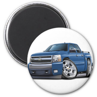 Chevy Silverado Dualcab Blue Granite Truck Magnet