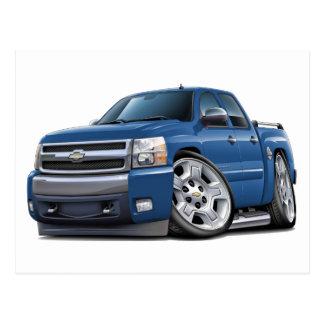 Chevy Silverado Dualcab Blue Granite Truck Postcard