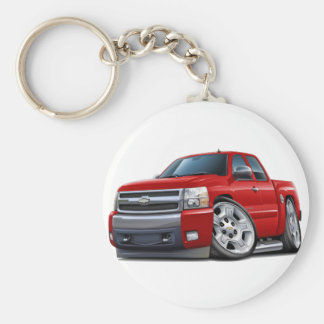 Chevy Silverado Red Extended Cab Keychains