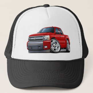Chevy Silverado Red Extended Cab Trucker Hat