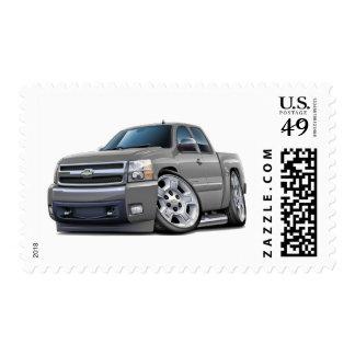 Chevy Silverado Silver Extended Cab Postage