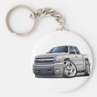 Chevy Silverado White Extended Cab Keychain