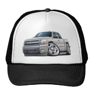 Chevy Silverado White Extended Cab Trucker Hat