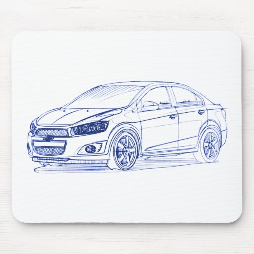 Chevy Sonic Sdn 2012 Mouse Pad