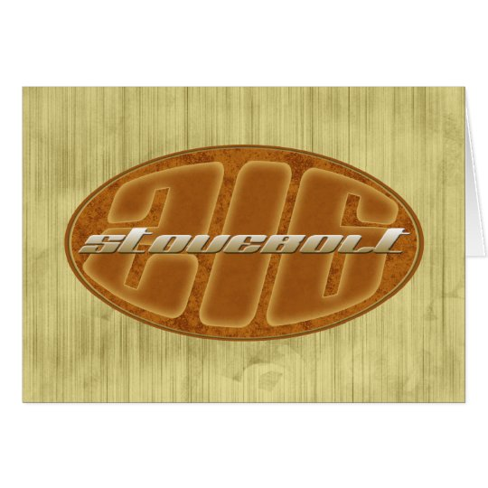 Chevy stovebolt 216 oval rust grunge card