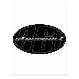 Chevy stovebolt 261 oval black postcard