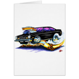 Chevy Vega Black Car Card
