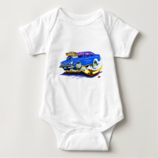 Chevy Vega Blue Car Baby Bodysuit