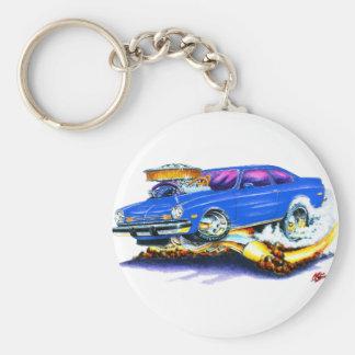 Chevy Vega Blue Car Basic Round Button Keychain