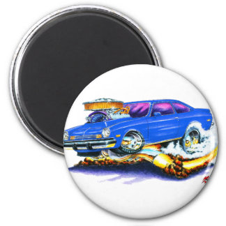 Chevy Vega Blue Car 2 Inch Round Magnet