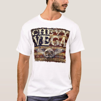 Chevy Vega Design Against Eroded Flag T-Shirt