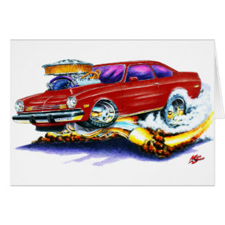Chevy Vega Maroon Car Card